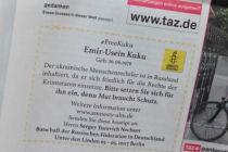Anzeige taz für Freilassung von EmirUsein Kuku